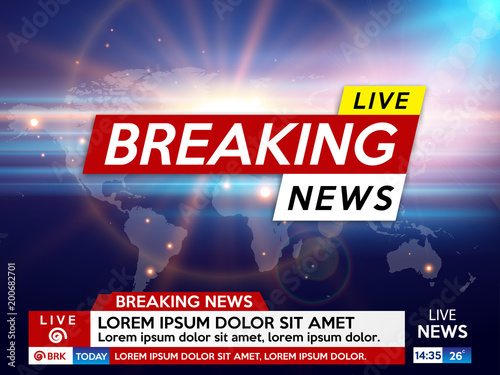 Background Screen Saver On Breaking News Live Blue With Sunrise And