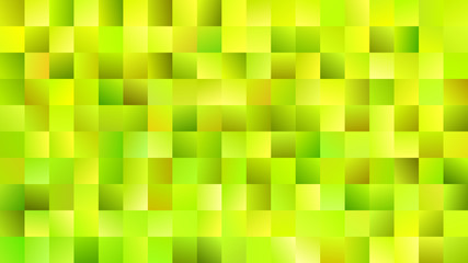 Geometrical mosaic rectangle background - gradient vector illustration from rectangles in lime green tones