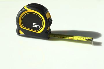 Flexometer, yellow tape measure