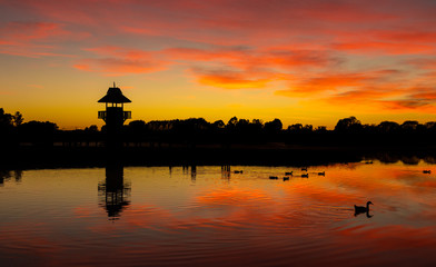 Tower of Henley Lake