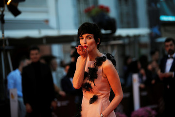 Spanish actress Paz Vega poses during a photocall before the ceremony of honouring to Mexican director Guillermo del Toro with Malaga-Sur award for lifetime achievements, outside the Cervantes Theatre in Malaga