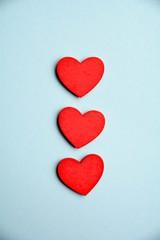 Grußkarte - Herzen
