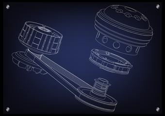 Belt gear, vector