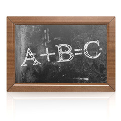 Education concept with ABC on blackboard