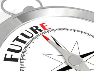 Future word on metallic compass