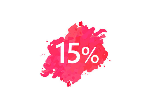 15 Percent Discount Water Color Design