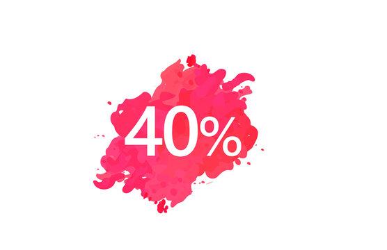 40 Percent Discount Water Color Design