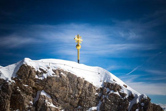 Gipfelkreuz auf der Zugspitze