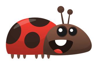 Cute cartoon ladybug. Vector illustration isolated