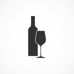 Vector image of a wine icon.