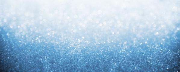Blue ice winter art bokeh