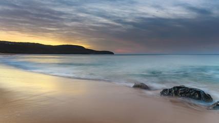 Soft Sunrise Seascape and Beach
