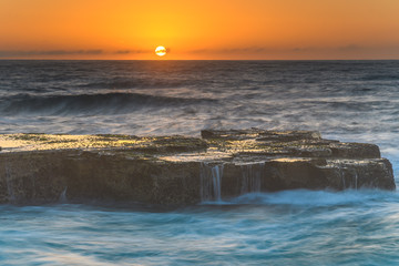 Sunrise Seascape from Rock Platform