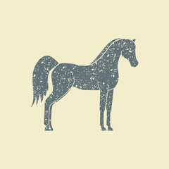 Vector silhouette of a horse