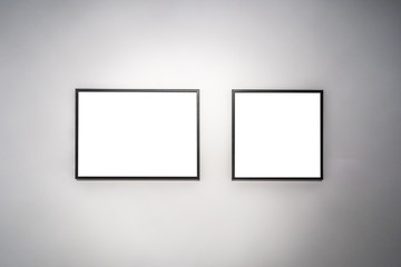 blank frame in gallery