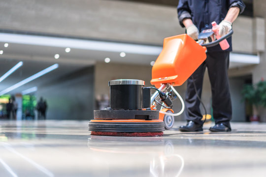 floor care with machine