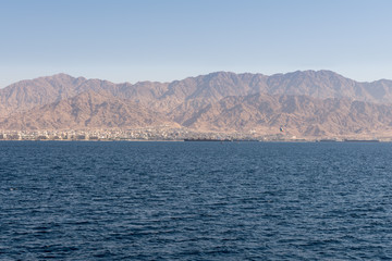 Sailing on a boat at the Red Sea Eilat