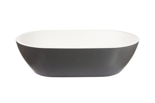 Black oval washbasin