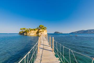 Zakynthos island, wooden jetty in tropical island