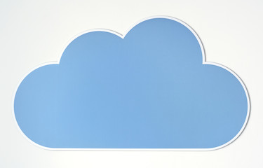 Cloud icon technology symbol
