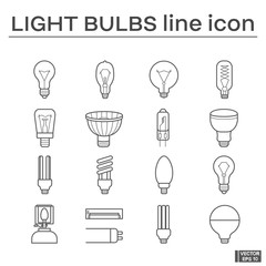 Set of light bulbs icons.