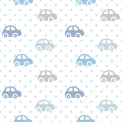 vector seamless color children's pattern cars