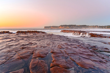 Sunrise Seascape from Tessellated Rock Platform