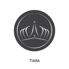 tiara logo isolated on white background for your web, mobile and app design