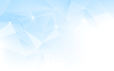 Abstract Blue and White Polygonal Mosaic Background. Template brochure design