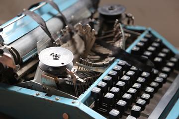 retro typewriter old