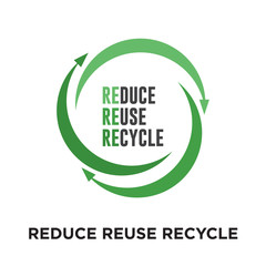 reduce reuse recycle logo isolated on white background for your web, mobile and app design