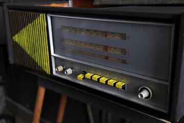 Old radio retro style