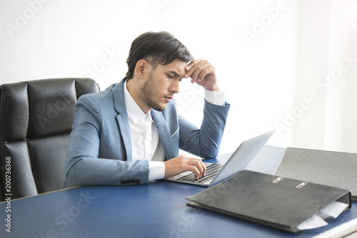 Businessman Stressed And Unhappy For Work In The Office Life Style
