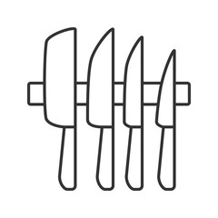 Knives set linear icon