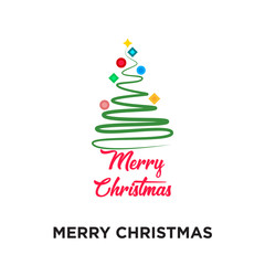 merry christmas logo images isolated on white background for your web, mobile and app design