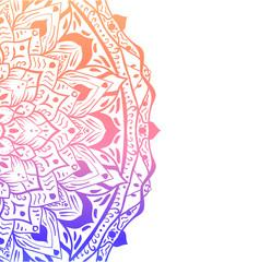 White background with colorful mandala.