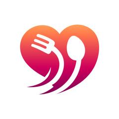 Love Culinary Food, Restaurant Logo, Healthy Food Logo