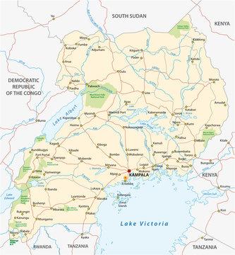 uganda vector road map