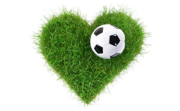 Rasen Herz - Fussball