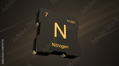 Nitrogen element number 7 from the periodic table on futuristic nitrogen element number 7 from the periodic table on futuristic black icon and nice lens flare urtaz Images