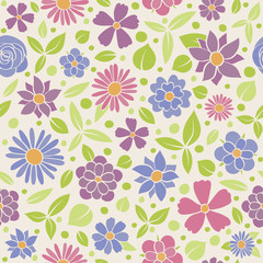 Seamless floral pattern - wrapping paper. Mother's Day, Woman's Day and Valentine's Day. Vector.