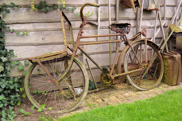 Old rusty dutch Bicycle