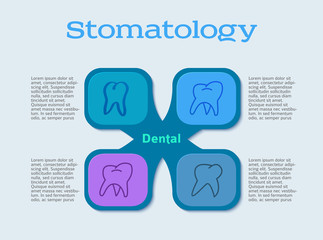 dentistry infographics pattern flyer design element01