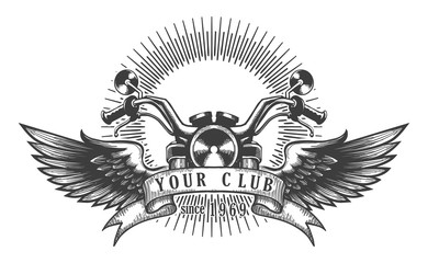Biker Club Retro Emblem