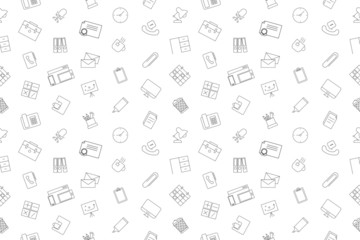 Vector workplace pattern. Workplace seamless background