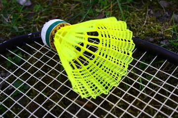 Badminton Schläger und Ball