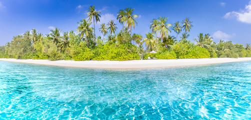 Amazing tropical beach banner