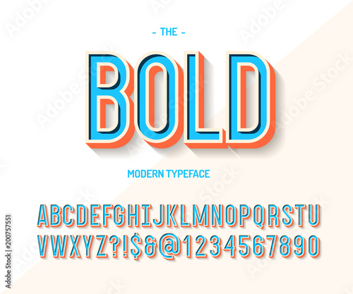 Bold Font Colorful 3d Style Modern Typeface Trend Typography Cool Alphabet For Party Poster