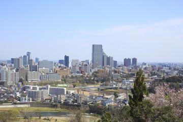 Panoramic view of Sendai City