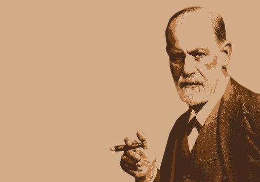 Freud - portrait - personnage célèbre - psy -psychiatre - psychanalyse - scientifique